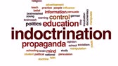 socialismo : Indoctrination animated word cloud, text design animation.