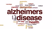 alzheimers disease : Alzheimers disease animated word cloud, text design animation.