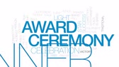 кинозвезды : Award ceremony animated word cloud, text design animation. Kinetic typography.