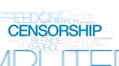 jihad : Censorship animated word cloud, text design animation. Kinetic typography.