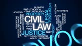 regra : Civil law animated word cloud, text design animation.
