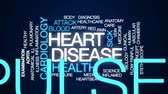 heart disease : Heart disease animated word cloud, text design animation. Stock Footage