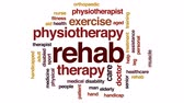 terapist : Rehab animated word cloud, text design animation.