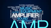 alto falantes : Amplifier animated word cloud, text design animation.