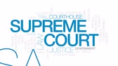corte : Supreme court animated word cloud, text design animation. Kinetic typography.