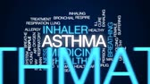 alergia : Asthma animated word cloud, text design animation.