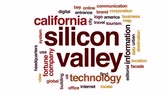 značky : Silicon valley animated word cloud, text design animation.