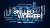 lakatosmunka : Skilled worker animated word cloud, text design animation.