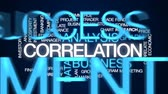 сравнить : Correlation animated word cloud, text design animation. Стоковые видеозаписи