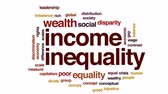lacuna : Income inequality animated word cloud, text design animation. Stock Footage
