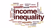 капитализм : Income inequality animated word cloud, text design animation. Стоковые видеозаписи