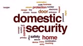kapualj : Domestic security animated word cloud, text design animation.