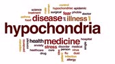 alergia : Hypochonria animated word cloud, text design animation.