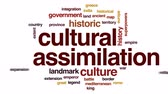 extension : Cultural assimilation animated word cloud, text design animation.