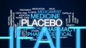 suplemento : Placebo animated word cloud, text design animation. Stock Footage