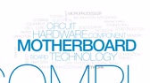 nyomtatott : Motherboard animated word cloud, text design animation. Kinetic typography.