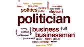 falante : Politician animated word cloud, text design animation. Stock Footage