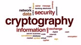 šifra : Cryptography animated word cloud, text design animation.