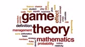 equitação : Game theory animated word cloud, text design animation. Stock Footage