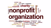 coletivo : Nonprofit organization animated word cloud, text design animation.