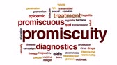 promiscuous : Promiscuity animated word cloud, text design animation. Stock Footage