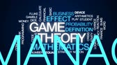 вычислять : Game theory animated word cloud, text design animation. Стоковые видеозаписи