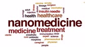 imunização : Nanomedicine animated word cloud, text design animation.