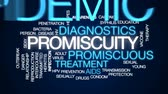 opryszczka : Promiscuity animated word cloud, text design animation. Wideo