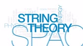 vácuo : String theory animated word cloud, text design animation. Kinetic typography.