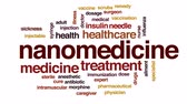 remedy : Nanomedicine animated word cloud, text design animation.