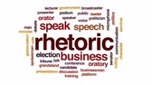 falante : Rhetoric animated word cloud, text design animation.