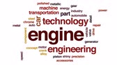 rolamento : Engine animated word cloud, text design animation. Stock Footage