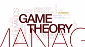 equitação : Game theory animated word cloud, text design animation. Kinetic typography. Stock Footage