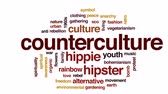 vegetarianismo : Counterculture animated word cloud, text design animation.