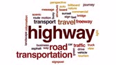 letreiro : Highway animated word cloud, text design animation.