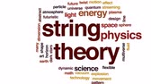 vácuo : String theory animated word cloud, text design animation.