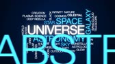 astrologia : Universe animated word cloud, text design animation.