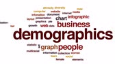 multirracial : Demographics animated word cloud, text design animation. Stock Footage