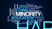 ırklararası : Minority animated word cloud, text design animation.