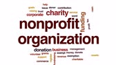 registrar : Nonprofit organization animated word cloud, text design animation.