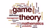 plusz : Game theory animated word cloud, text design animation. Stock mozgókép