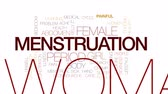 bolestivý : Menstruation animated word cloud, text design animation. Kinetic typography.