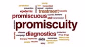 aşılama : Promiscuity animated word cloud, text design animation. Stok Video