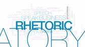 apresentador : Rhetoric animated word cloud, text design animation. Kinetic typography. Vídeos