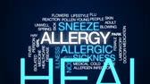 febre : Allergy animated word cloud, text design animation. Stock Footage