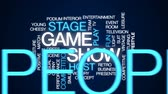 apresentador : Game show accelerator animated word cloud, text design animation. Vídeos