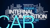 internal : Internal combustion animated word cloud, text design animation.