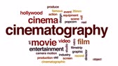 hollywood studios : Cinematography animated word cloud, text design animation.