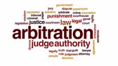 divorce : Arbitration animated word cloud, text design animation. Stock Footage