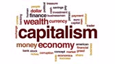капитализм : Capitalism animated word cloud, text design animation.